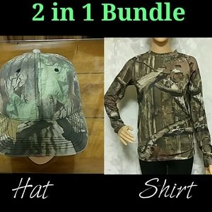 2 in 1 Bundle OUTDOOR CAP& Mossy Oak Shirt